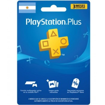 PLAYSTATION PLUS 3 MESES...