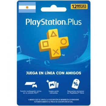 PLAYSTATION PLUS 12 MESES...